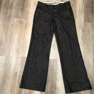 THEORY Wool Blend Boot Cut Pants Size 8